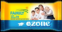 Влажные салфетки Ozone N для всей семьи Ромашка, 72 шт