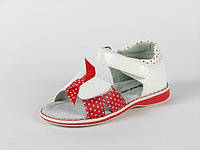 Босоножки детские Apawwa арт.TS-H-583 Белый-Красный (Размеры: 18-23)