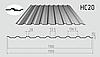 Профнастил кровельный НС-20 1150/1100 с цинковым покрытием 0,50мм