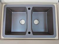 Мойка кухонная гранитная Deante Vivo 2B (коричневый металлик)