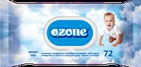 Влажные салфетки Ozone N детские Календула и витамин Е с клапаном, 72 шт