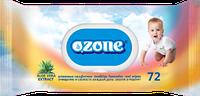 Влажные салфетки Ozone N детские Алоэ с клапаном, 72 шт