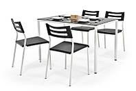 Столовый комплект Halmar Figaro (стол + 4 стула) черный