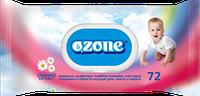 Влажные салфетки Ozone N детские Ромашка с клапаном, 72 шт