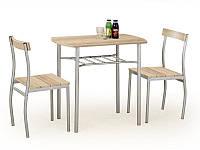 Столовый комплект Halmar Lance (стол + 2 стула) дуб sonoma