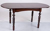 Стол обеденный Бруно, темный орех 1290(+340)*740мм раскладной