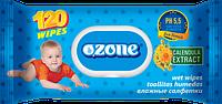 Влажные салфетки Ozone N детские Календула и витамин Е с клапаном, 120 шт