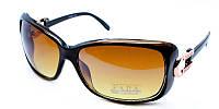 Коричневые очки солнцезащитные молодежные