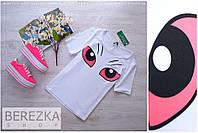 """Женская модная футболка """"Глазки"""" , фото 1"""