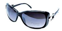 Фигурные черные очки солнцезащитные