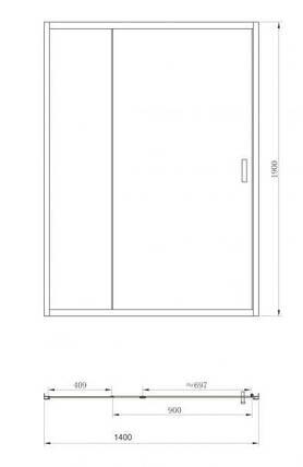 Душевая дверь Primera FRAME SDC1214 140x190, фото 2