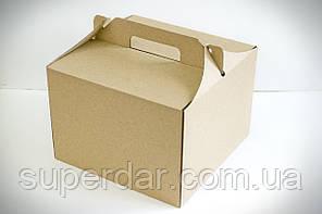 Коробка для торта, 255х255х185 мм, бура