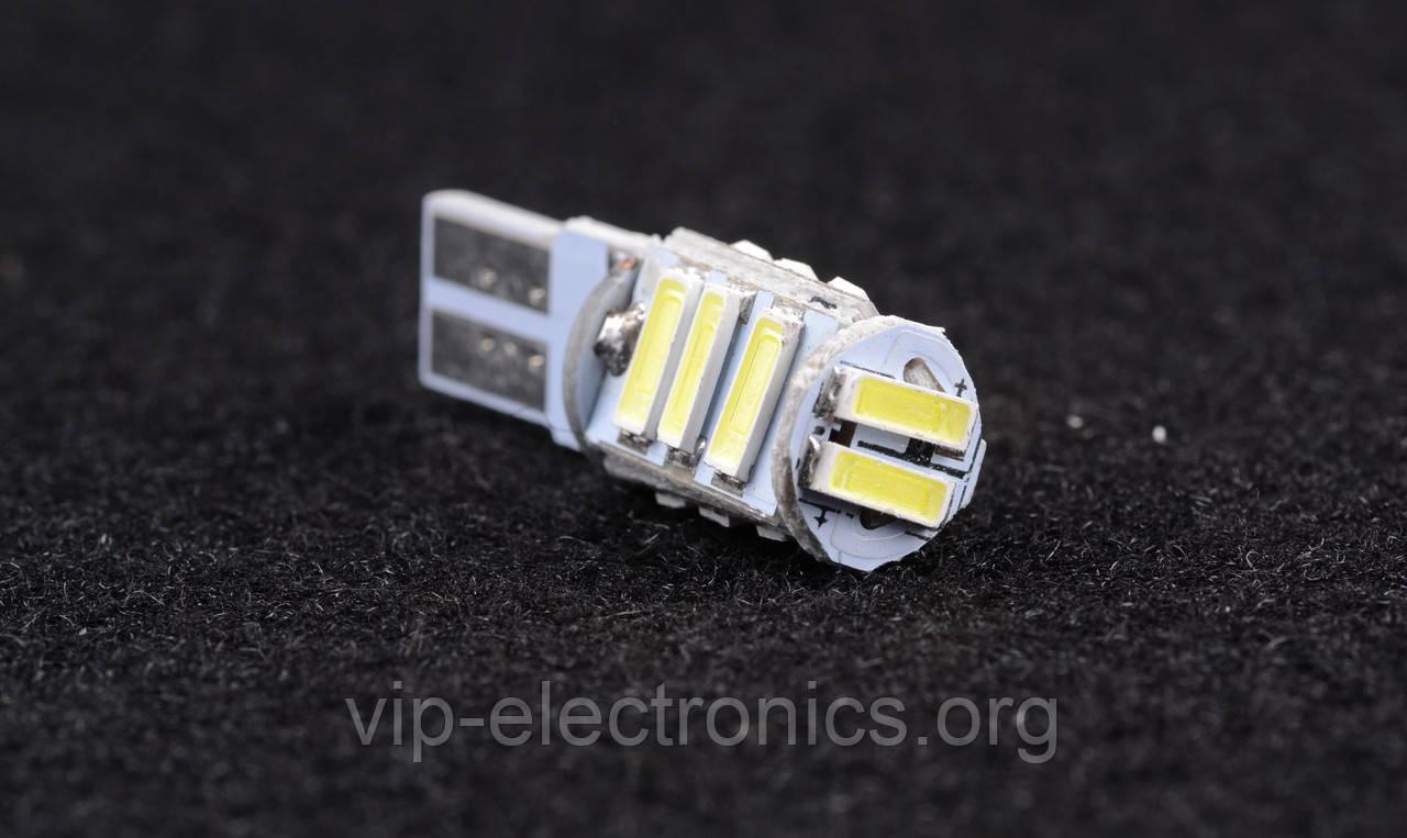 Светодиодная автолампа для цоколя T10B-11SMD-7020 (12V) обманка