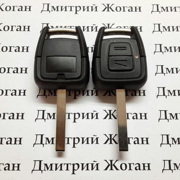 Автоключ для OPEL (Опель) 2- кнопки, ID40, 433 Mhz, лезвие HU100