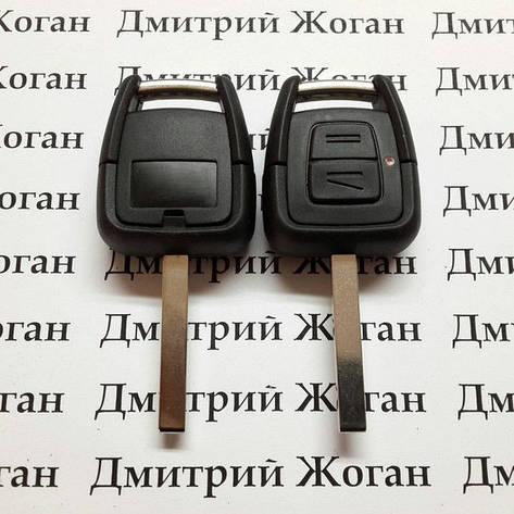 Автоключ для OPEL (Опель) 2- кнопки, ID40, 433 Mhz, лезвие HU100, фото 2
