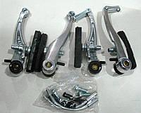 Тормоза V-brake, комплект без ручек (алюминиевые)