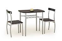 Столовый комплект Halmar Lance (стол + 2 стула) wenge