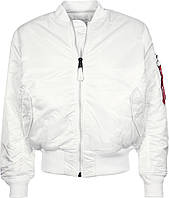 Белый бомбер Alpha Industries MA-1 Flight Jacket MJM21000C1 (White), фото 1