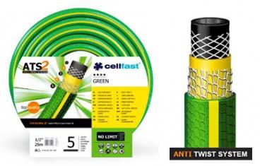 Шланг для поливу cellfast Green ATS2 п'ятишаровий армований 1/2 дюйма (12,5 мм) 25 метрів пр-во Польща