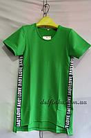 Трикотажное платье туника от 6 до 10 лет цвет зеленый, фото 1