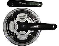 Шатуны Prowheel, 170мм, 48х38х28, с защитой (сталь)