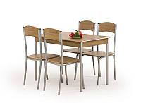 Столовый комплект Halmar Longin (стол + 4 стула) орех