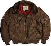 Куртка летная Injector Alpha Industries (коричневая)