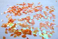 """Пленка для эффекта """"Битое стекло"""" порезанная в колбочках  оранжевая"""
