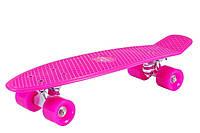 Скейтборд (пенни борд) Hudora Retro Pink (Германия)
