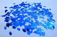 """Пленка для эффекта """"Битое стекло"""" порезанная в колбочках  синяя"""