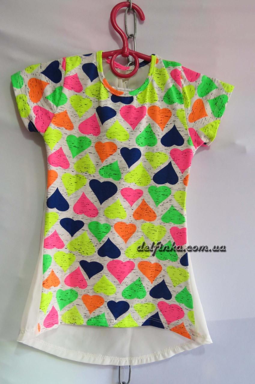 Платье туника от 3 до 7 лет сердечко, фото 2