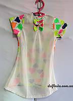 Платье туника от 3 до 7 лет сердечко, фото 1