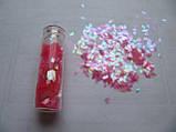 """Пленка для эффекта """"Битое стекло"""" порезанная в колбочках  розовая, фото 2"""