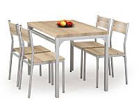 Столовый комплект Halmar Malcolm (стол + 4 стула) дуб sonoma