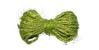 Веревка джутовая декоративная, 2 мм, 5 м, цвет салатовый, фото 1