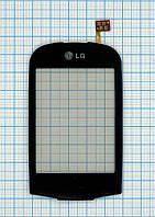Тачскрин сенсорное стекло для LG T500/T510/T515 black