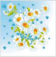 Салфетка La Fleur чудесная ромашка