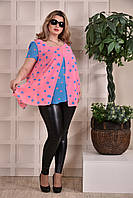 Стильная женская блуза больших размеров (рр 42-74)