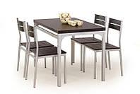 Столовый комплект Halmar Malcolm (стол + 4 стула) wenge