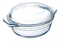 Набор жаростойких стеклянных кастрюль 2.5л, 1.5л OV101 ITERNA