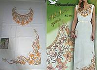 Заготовка женского платья без рукавов для вышивки ЖС-152