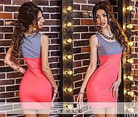 Женское платье двухцветное летнее