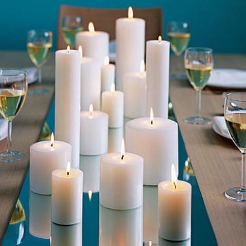 свечи круглые