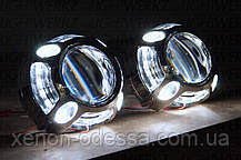 """Маска для ксеноновых линз Porsche Panamera LED CREE DRL W+Y  3.0"""" со светодиодами CREE Белый + Желтый, фото 2"""