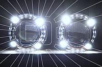 """Маска для ксеноновых линз 3.0"""" со светодиодами CREE : Porsche Panamera LED CREE DRL"""