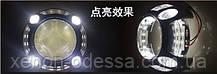 """Маска для ксеноновых линз Porsche Panamera LED CREE DRL W+Y  3.0"""" со светодиодами CREE Белый + Желтый, фото 3"""