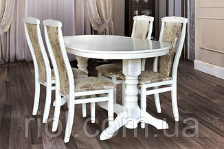 Стол обеденный Говерла-2.  Белый / Слоновая кость