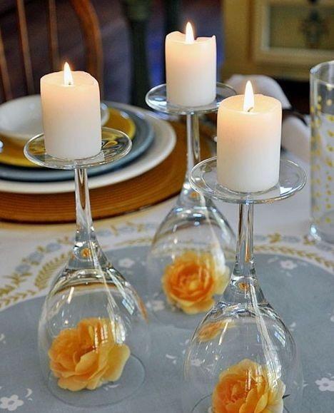 свечи круглые для декора