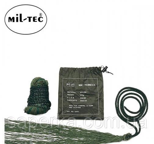 Гамак походный, туристический с чехлом олива. Mil-tec (Германия), фото 2