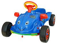 Детская педальная машина Хэрби, синяя, музыкальный руль (09-901)